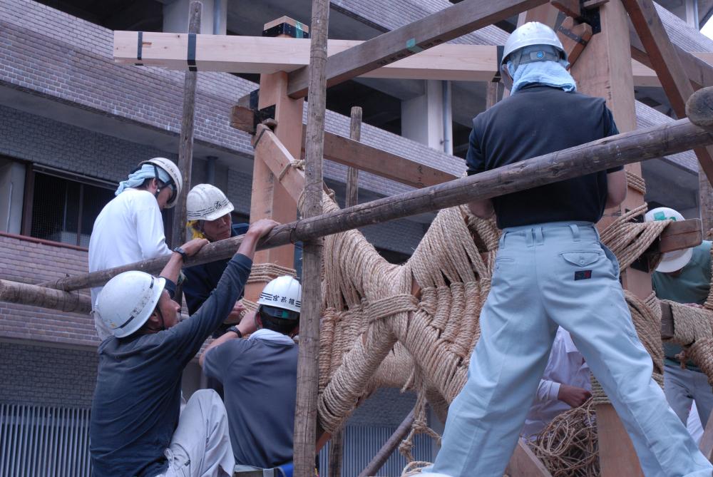 祇園祭 前祭山鉾建て