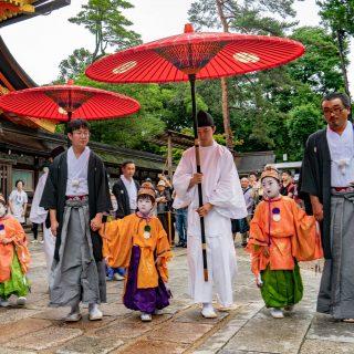 祇園祭2018年綾傘鉾稚児社参